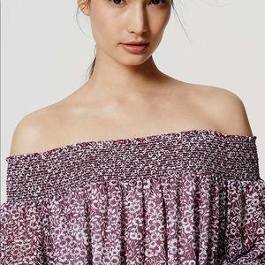 NWOT LOFT floral off the shoulder blouse